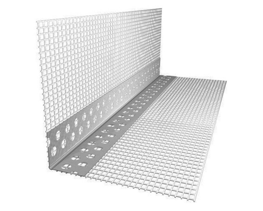 The corner aluminum perforated with a grid